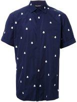 Neil Barrett pixel monster print shirt