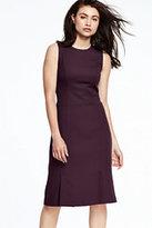 Lands' End Women's Sleeveless Fluted Skirt Dress-Patriot Blue Stripe