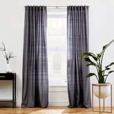west elm Dupioni Silk Curtain - Pewter