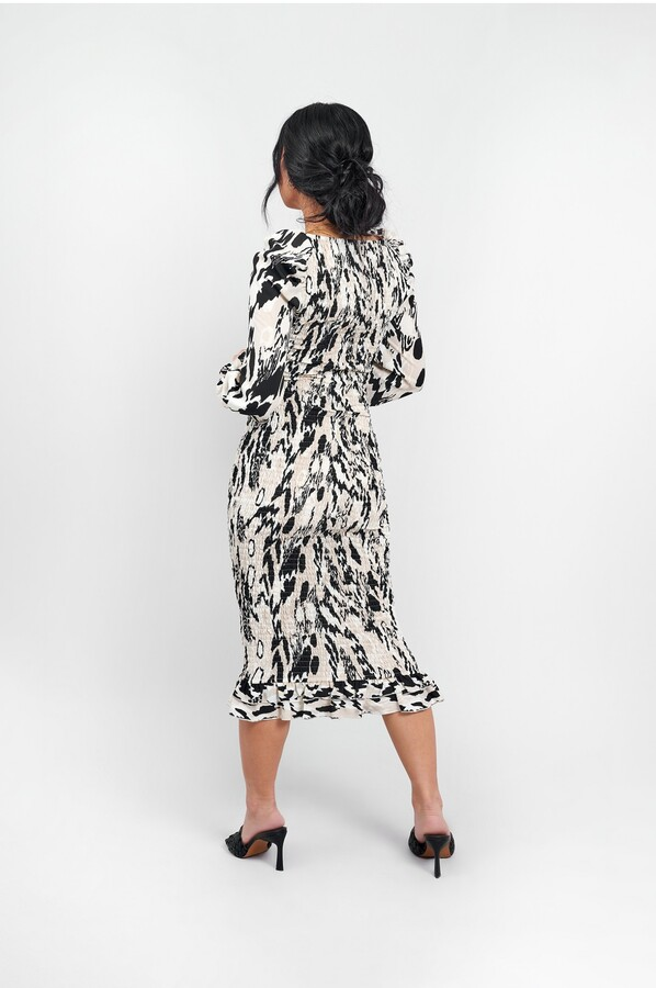 Thumbnail for your product : Little Mistress Shirred BodyCon Midi Dress