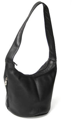 Royce Leather Royce Hobo Bag with Side Zip Pocket in Colombian Genuine Leather