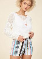 Motel Stripe Hype Shorts in XL