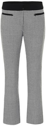 Paco Rabanne Checked wool straight pants