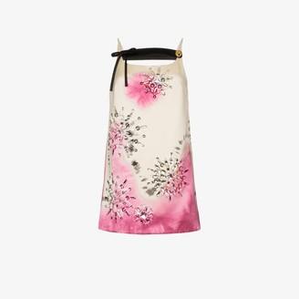 Prada Embellished Tie-Dye Mini Dress
