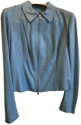Non Signé / Unsigned Non Signe / Unsigned Turquoise Leather Jackets