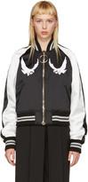 Off-White Black and White Cropped Souvenir Jacket