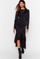 Nasty Gal Womens Not Today Satin Midi Dress - black - 4