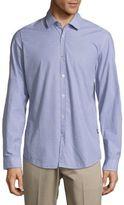 HUGO BOSS Geometric Cotton Casual Button-Down Shirt