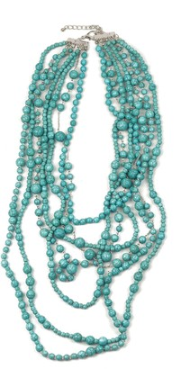Eye Candy Los Angeles Turquoise Bead Multi-Strand Necklace