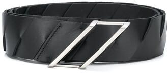 Bottega Veneta Intrecciato weave leather belt