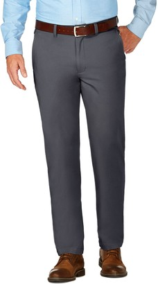 Haggar Men's J.M. Luxury Comfort Premium Flex-Waist Slim-Fit 4-Way Stretch Flat-Front Casual Pants