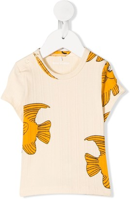 Mini Rodini goldfish pattern T-shirt