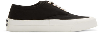 MAISON KITSUNÉ Black Laced Sneakers
