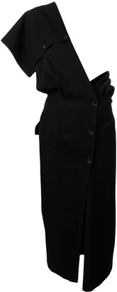 Comme Des Garçons Pre Owned 1991's Single Shoulder Dress