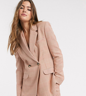 Asos Tall ASOS DESIGN Tall suit blazer in red POW check