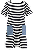 Copper Key Big Girls 7-16 Striped Chambray-Pocket Dress