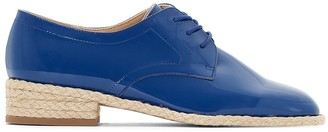 La Redoute Collections Patent Brogues with Rope Sole
