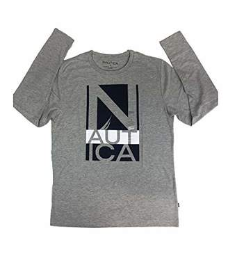 Nautica Men's Logo Long Sleeve Jersey T-Shirt
