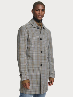 Scotch & Soda Plaid Trench Coat | Men