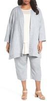 Eileen Fisher Plus Size Women's Organic Handkerchief Linen Jacket