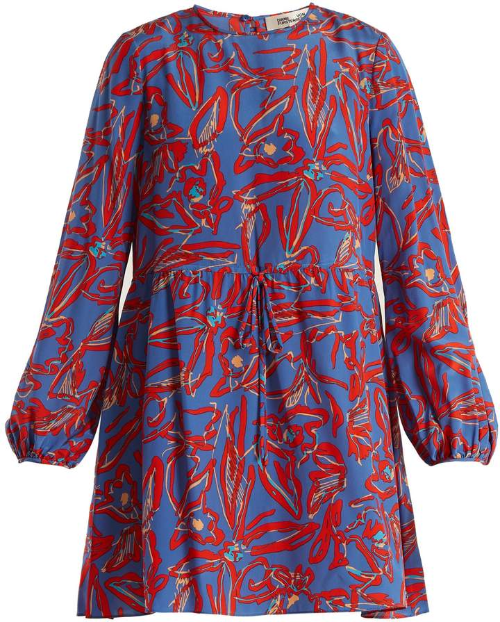 Diane von Furstenberg Drawstring-waist silk crepe de Chine dress