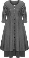 Isolde Roth Plus Size Linen cotton dress