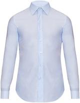Brioni Doubled-cuff Cotton Shirt