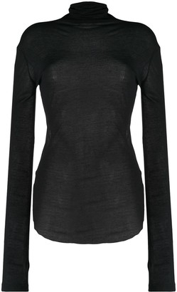 Ann Demeulemeester Ribbed Roll Neck Jumper