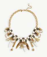 Ann Taylor Resin Petal Statement Necklace