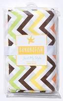 Banana Fish BananaFish Studio Collection Fall Toned Chevron Crib Bedding Skirt