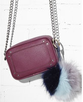 Express ok originals color blocked faux fur pom keychain and bag charm