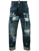DSQUARED2 distressed jeans - men - Cotton/Calf Leather/Polyester - 48