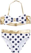Betsey Johnson Polka Dot Bow Bikini (Little Girls)