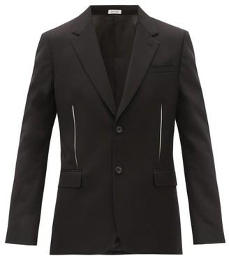 Alexander McQueen Slashed-effect Single-breasted Wool Jacket - Black
