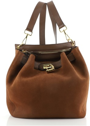 Tom Ford Natasha Backpack Suede Large