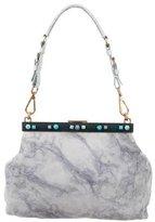 Prada Suede Embellished Frame Bag