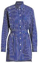 Prada Women's Poplin Striped Shirt Dress