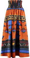 Stella Jean Printed Cotton-Blend Midi Skirt