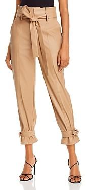 Lucy Paris Faux Leather Ankle Tie Pants - 100% Exclusive