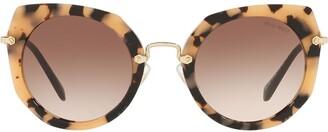 Miu Miu Artiste gradient-lens sunglasses
