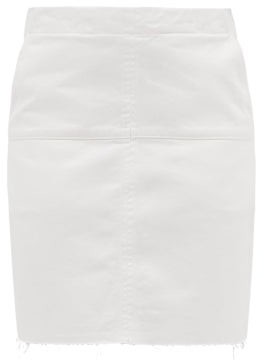 Raey Panelled Denim Mini Skirt - Womens - White