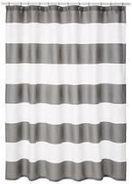 Kassatex Hampton Shower Curtain - Gray gray/white