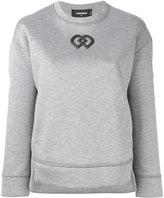 DSQUARED2 logo printed sweatshirt - women - Viscose/Polyurethane/Cotton - XS