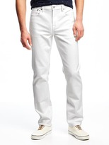Old Navy Slim Built-In Flex Stay-White Jeans for Men