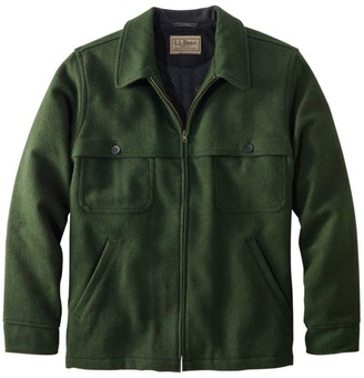 L.L. Bean L.L.Bean Men's Maine Guide Zip-Front Jac-Shirt With Primaloft