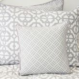 Caden Lane Mod Lattice Square Throw Pillow in Grey/White