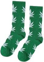 Generic Pair of Men Women Maple Leaf Pattern Mid Calf Athletic Socks