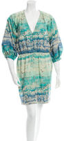 Peter Som Printed Long Sleeve Dress
