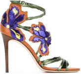 Jimmy Choo Lolita 100 floral sandals - women - Leather - 39