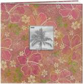 Pioneer 12-Inch by 12-Inch Postbound Frame Front Memory Book, Hibiscus Design